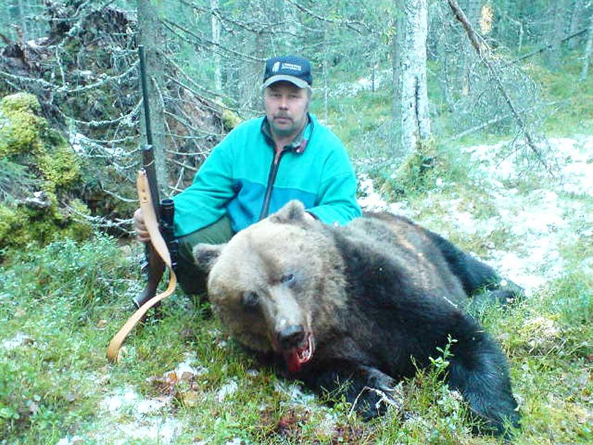 На счету Берта-Ивара Маттссона - пятнадцать убитых медведей.