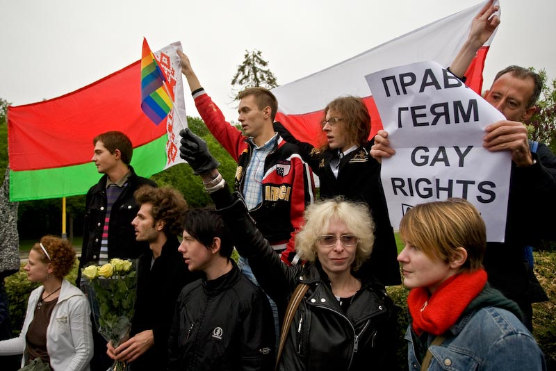 Разгон гей-парада 2009 в Москве.