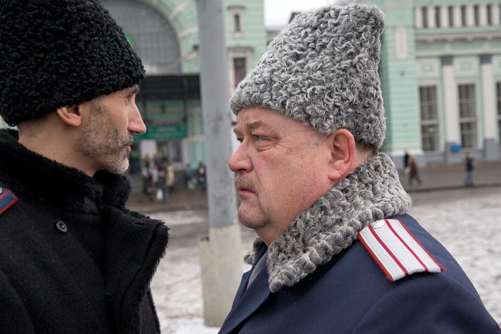 EchoMSK,   ЖЖ-пользователь drugoi: «Казачий патруль» на Белорусском вокзале: как это было