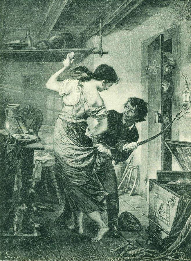 Девушек бьют плетью