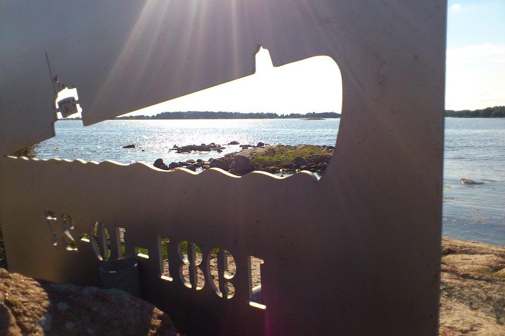 подводная лодка на мели у берегов швеции