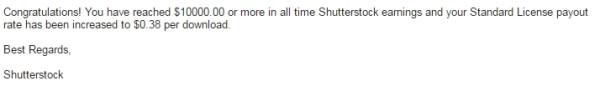 письмо от shutterstock для drumcheg