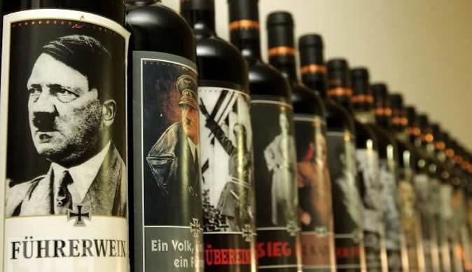 Вина с фотографиями Адольфа Гитлера и Бенито Муссолини на этикетках