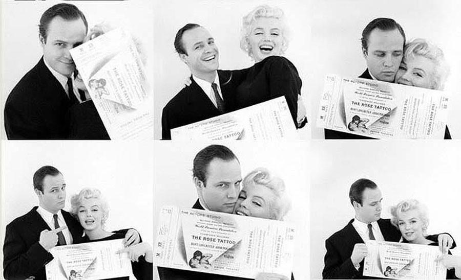 014 Марлон Брандо и Мэрилин Монро.