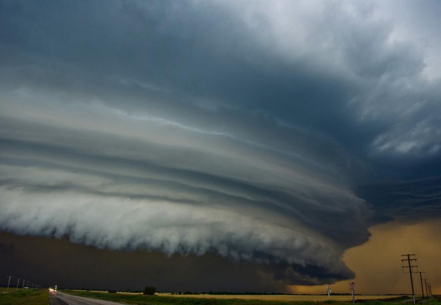 буря в канадских прериях