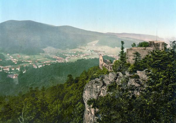 Baden-Baden_Altes_Schloss_um_1900
