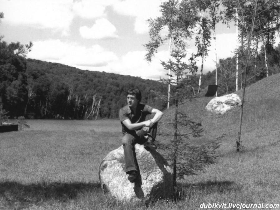 057 Владимир Высоцкий на Великих озерах в Канаде. Фото Бабека Серуша, 2 сентября 1976 года