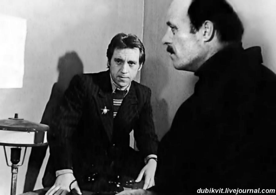 059 Владимир Высоцкий и Станислав Говорухин во время съемок фильма «Место встречи изменить нельзя». Фото 1978 года