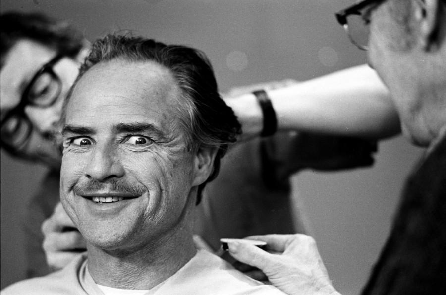 011 Марлон Брандо, подготовка к съемкам «Крестного отца» в Нью-Йорке, 1971