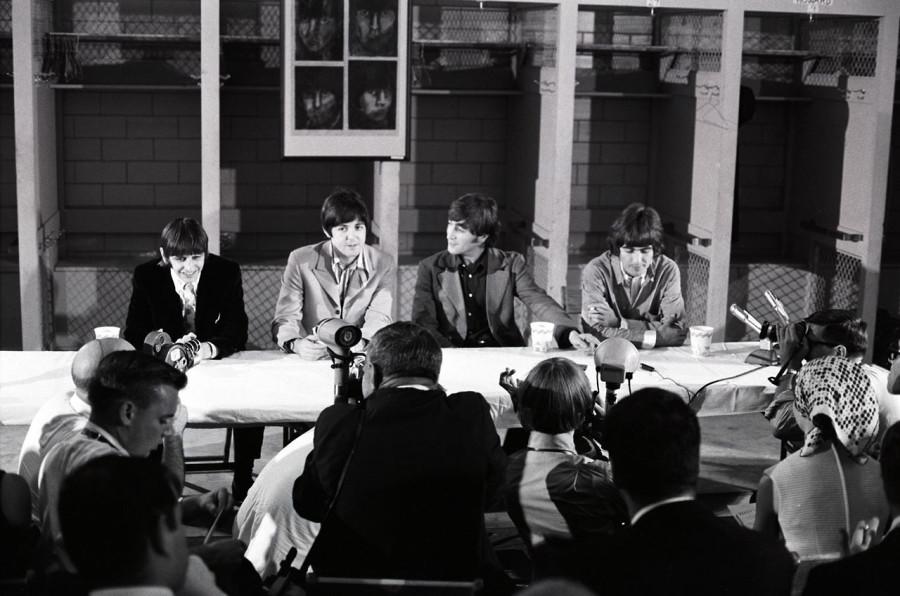 028 THE BEATLES на пресс-конференции в Вашингтоне  1966 год