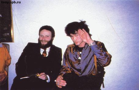 Алекс и Виктор на вечеринке шведского консула в Санкт-Петербурге. 1986