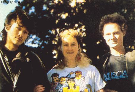 Виктор, Джоанна и Саша. 1985