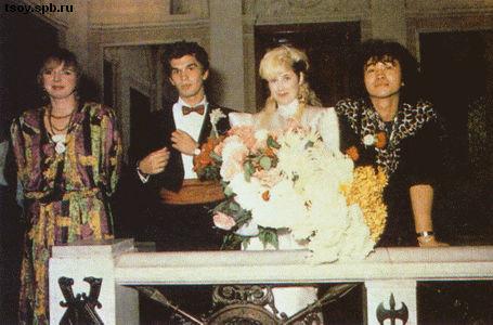 Виктор, Джоанна, Юрий и Марианна в ЗАГСе. 1987