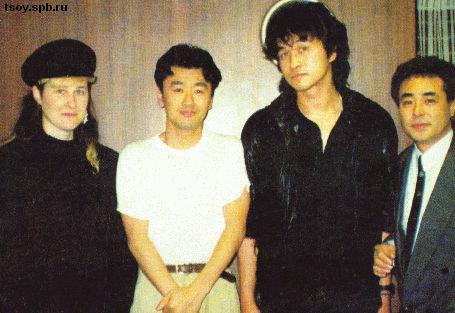 Джоанна, японская рок-звезда Кейски Куата, Виктор и один из самых главных музыкальных менеджеров в Японии - Кайчо