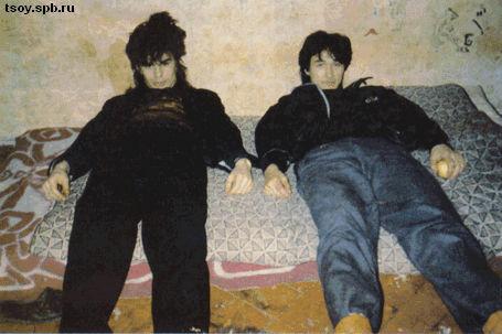 Ю. Каспарян и В. Цой Санкт-Петербург. 1985