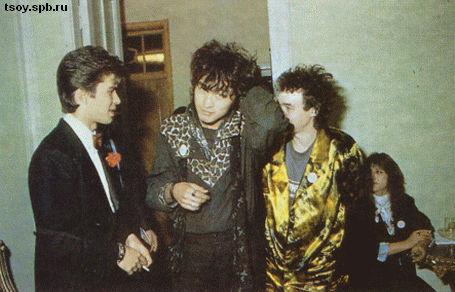 Юрий, Виктор и Игорь перед свадьбой Юрия и Джоанны. 1987