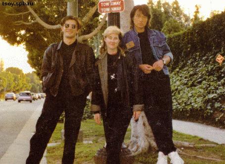 Юрий, Джоанна и Виктор в Лос-Анджелесе 1989