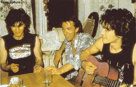 Юрий, Сергей и Виктор в квартире Лепницкого. Москва. 1986