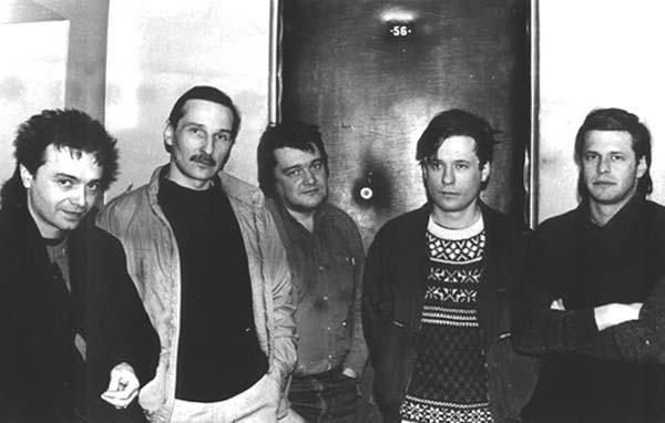 014 Константин Кинчев, Петр Мамонов, Сергей Жариков, Василий Шумов и Борис Гребенщиков, 1986 год
