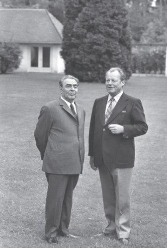 В резиденции федерального канцлера ФРГ Вилли Брандта. Май 1973 г
