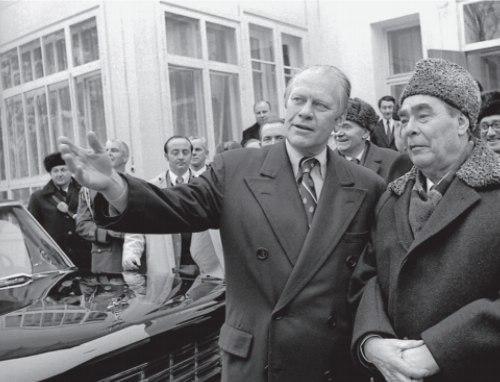 Встреча Л. И. Брежнева с президентом США Джеральдом Фордом. Владивосток. 1978 г