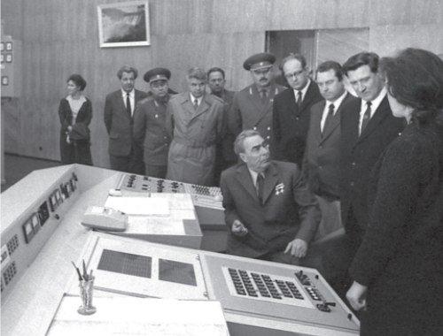 Л. И. Брежнев на Красноярской ГЭС. 1972 г