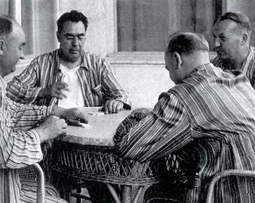 Л.И. Брежнев на отыхе в Крыму