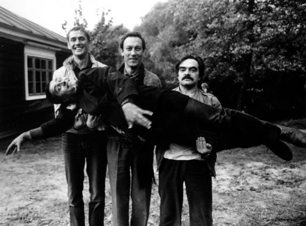 А. Абдулов и О. Янковский на съёмках фильма Храни меня мой талисман. Автор Гневашев Игорь, 1986