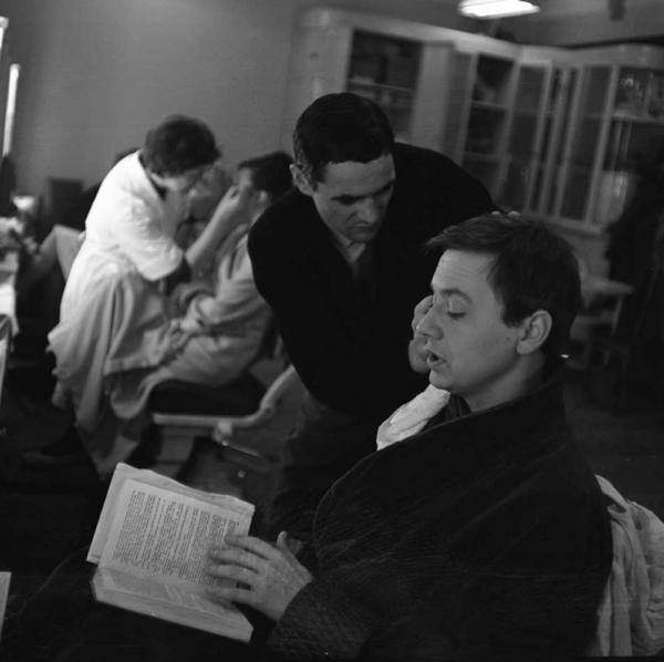 О. Табаков на съёмках фильма Война и мир. Автор Князев Андрей, 1960