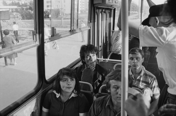 016 Виктор Цой в автобусе. Фото Игоря Мухина