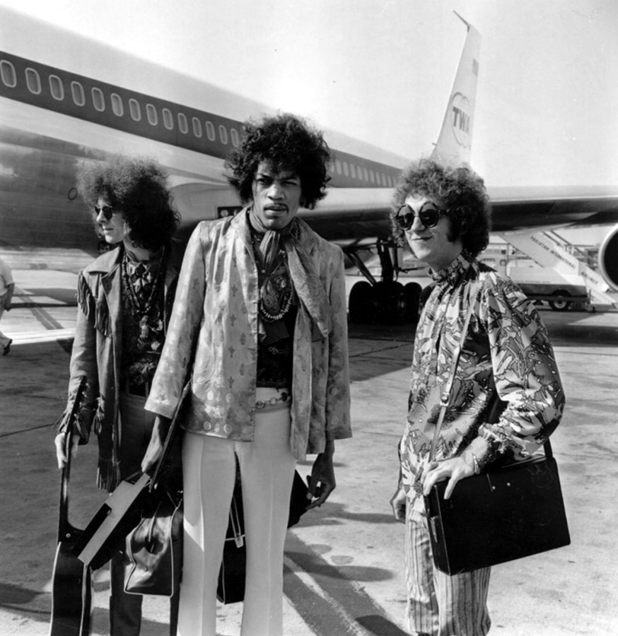 016 The Jimi Hendrix Experience at the airport, 1967