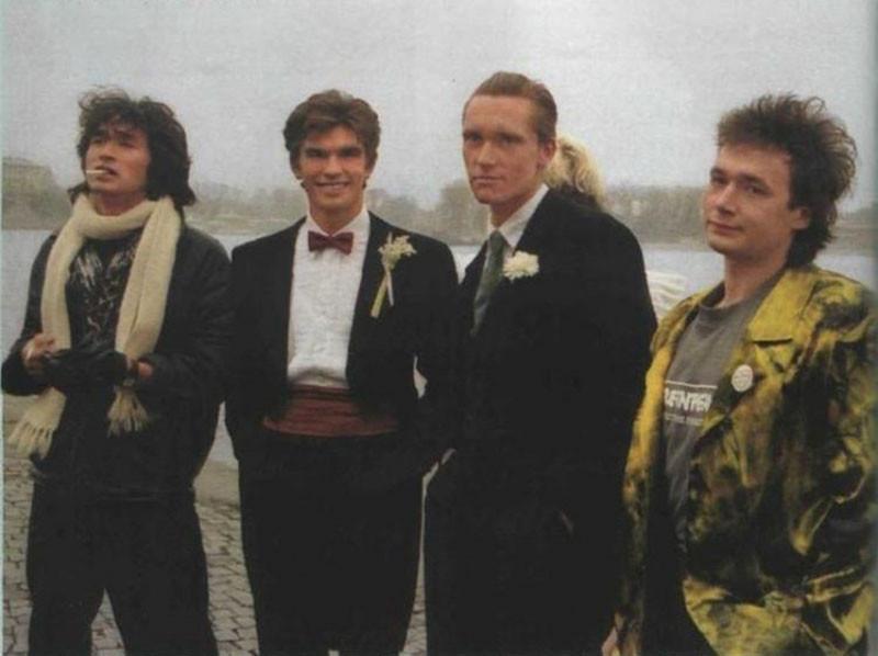 На свадьбе Джоанны Стингрей и Юрия Каспаряна. 2 ноября 1987 г. Фото из журнала Viva!