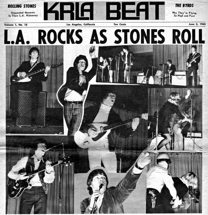28 Rolling Stones 1965 Tour - radio station KRLA Beat