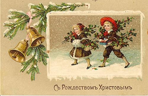 С рождеством винтажные открытки