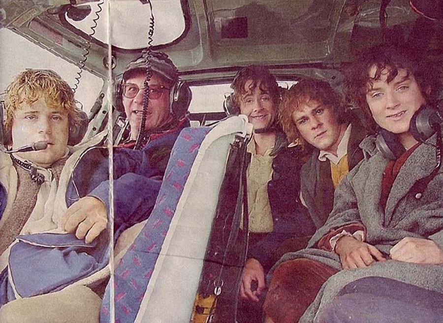 Хоббиты в вертолёте