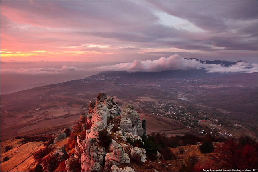 Рассвет над Южным берегом Крыма