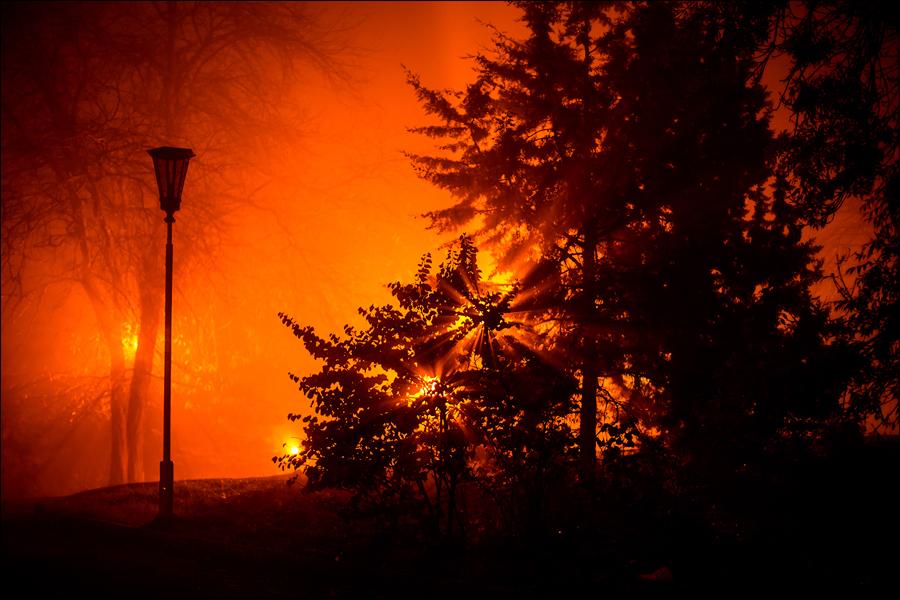 Туманная ночь в Севастополе