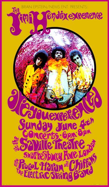 210 Jimi Hendrix Experience - концертная афиша - Сэвилл театр - 1967