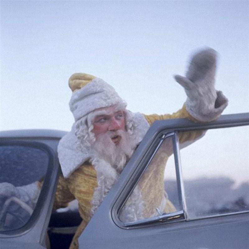 Дед Мороз московской фирмы Заря Александр Гаврилов, 1973 год, фото Дмитрия Дебабова