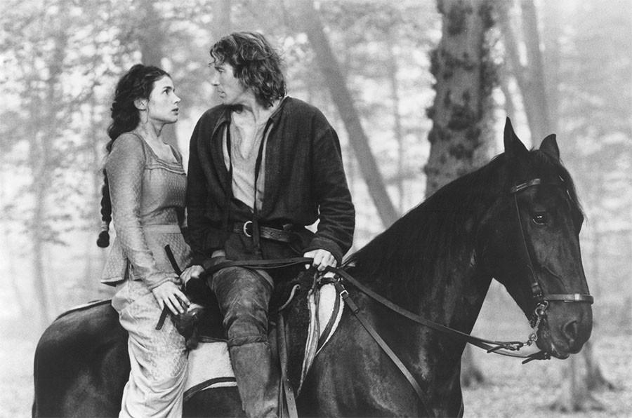 """Джулия Ормонд и Ричард Гир на съёмках фильма """"Первый рыцарь"""""""