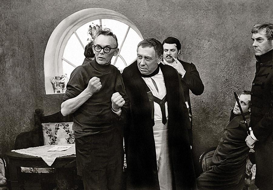 Гайдай, Папанов и Ширвиндт на съемках фильма «Инкогнито из Петербурга»
