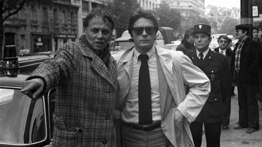 Владимир Наумов и Ален Делон на съемках фильма «Тегеран-43» (1980)