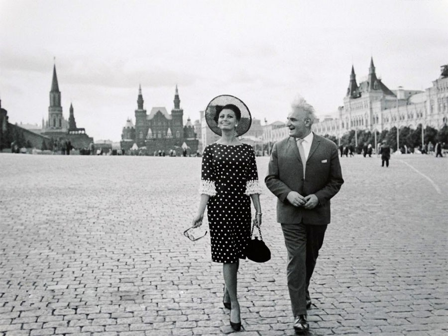 Софи Лорен в Москве. 1965 год
