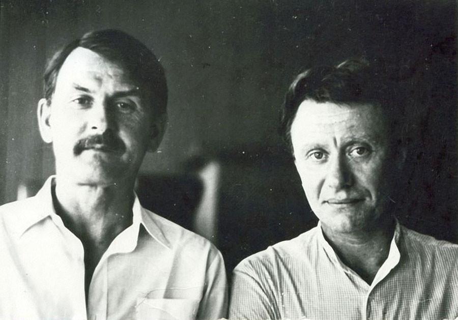 Андрей Миронов и Александр Ольбик. 1983 год, Юрмала