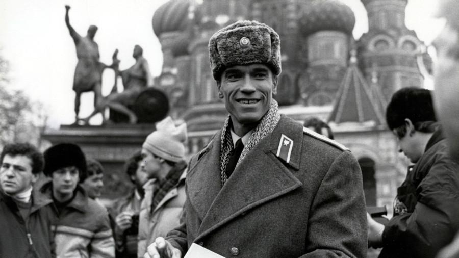 Арнольд Шварценеггер на Красной площади в Москве