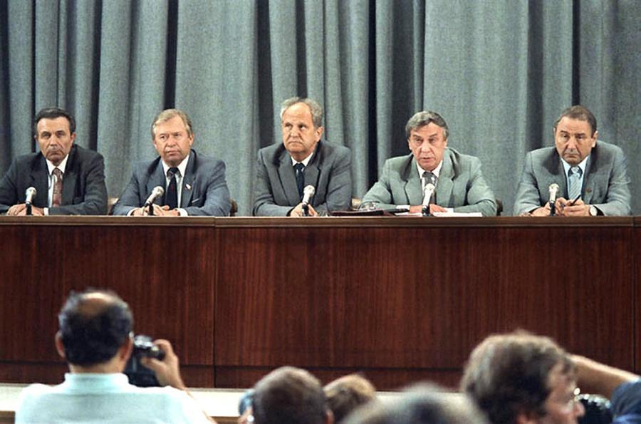 Пресс-конференция исполняющего обязанности президента СССР Геннадия Янаева