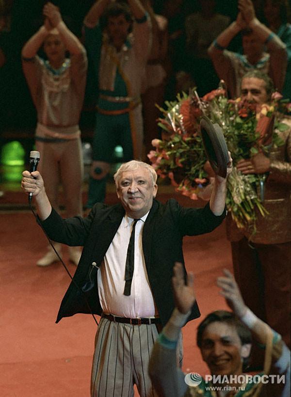 Юрий Никулин открывает представление 1989 год
