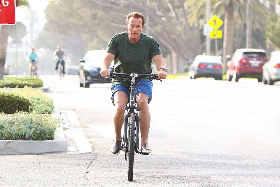 And Schwarzenegger loves cycling