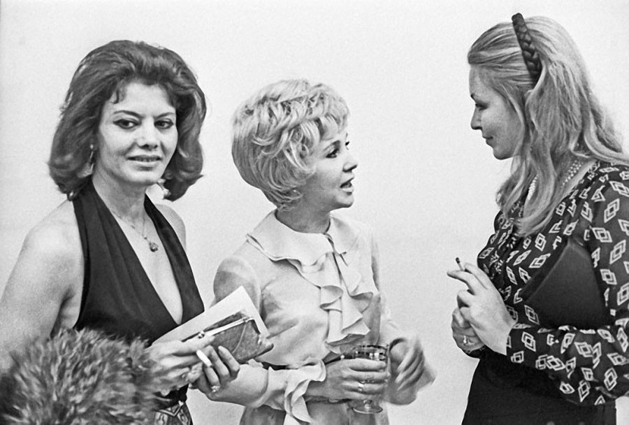 Надежда Румянцева и Марина Влади, 1971 год