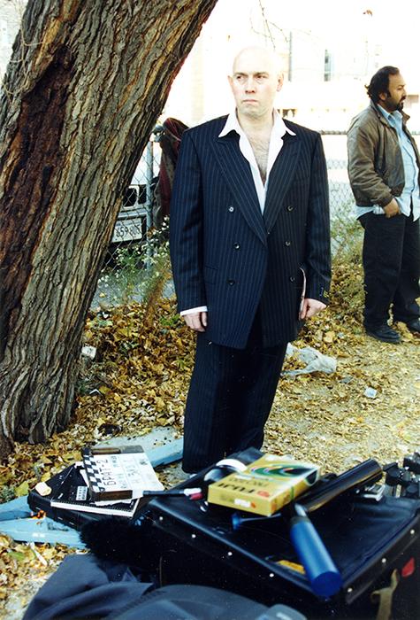 Виктор Сухоруков на съемках фильма «Брат 2»